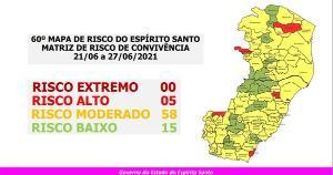 Viana, único município que estava em risco baixo, passou para o moderado. Novo mapa começará a valer na próxima segunda-feira (21) e terá aplicação até ao domingo seguinte, 27 de junho